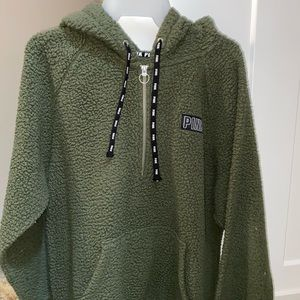 Pink army green fleece